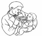 adult feeding baby with bottle