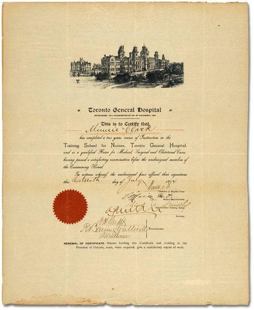Graduate Nurse's Diploma 1894