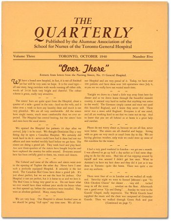 The Quarterly newsletter October 1940