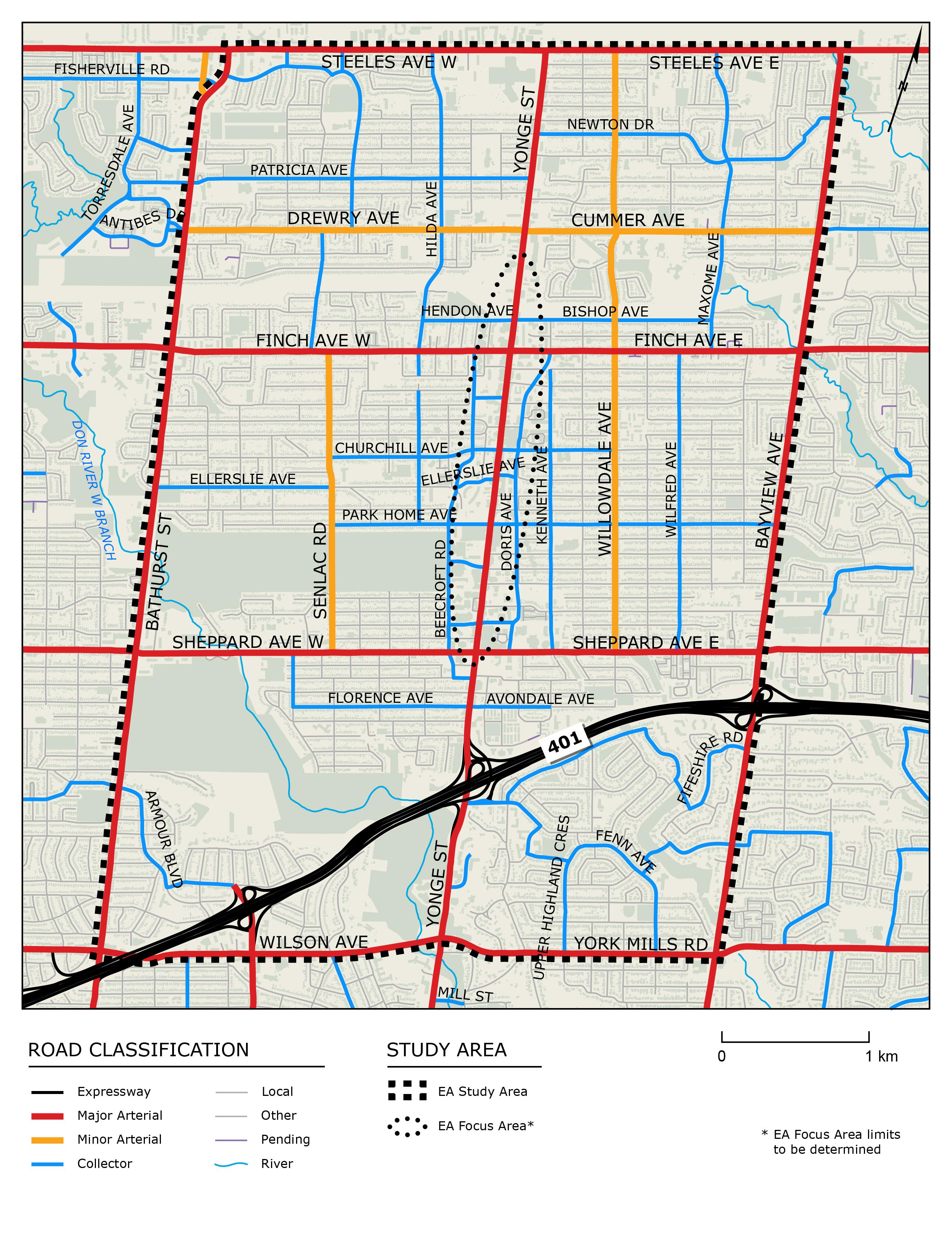 REimagining Yonge Study Area Map