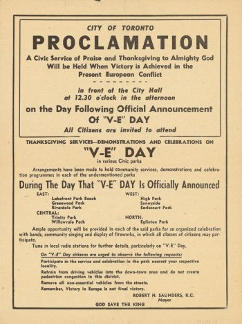 Textual proclamation (front).