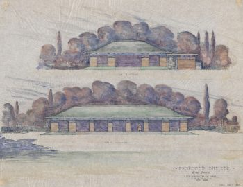 Sketch of Proposed Shelter, High Park, 1923