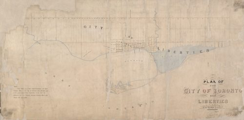 Plan of the City of Toronto and Liberties, 1834