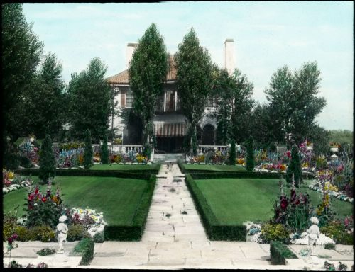 Picture of Glendon Hall, Bayview Avenue, gardens and grounds,1920's