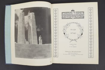 Imager of 'The Epic at Vimy' book, published by the The Legionary