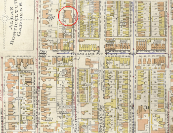 Goad's Atlas, 1910, showing Seaton Street and the location of Seaton House.