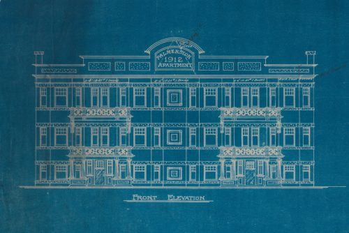 Blueprint of Apartments, 147-151 Palmerston Ave., 1912