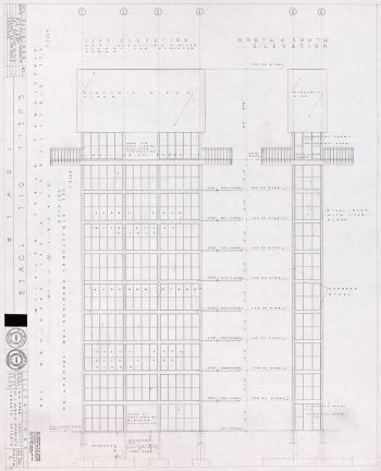 Sketch of Shell Tower, Exhibition Place, 1955, Architect George A. Robb