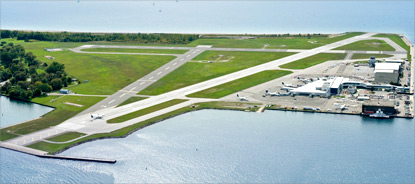 Picture of Billy Bishop Airport from the air