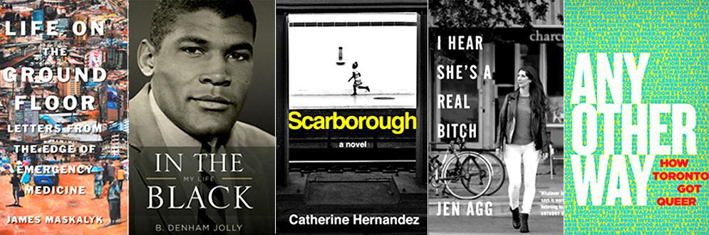 Toronto Book Awards 2017 finalists book jackets