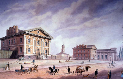 The Old Gaol, Fireman's Hall built by Mr J.G. Howard, on Church Street in 1834