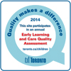 Quality makes a difference sticker. This site participated in the annual Early Learning and Child Care Quality Assessment