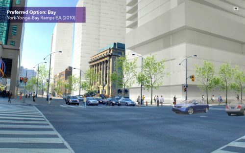 Harbour St. & Bay St. after road improvements