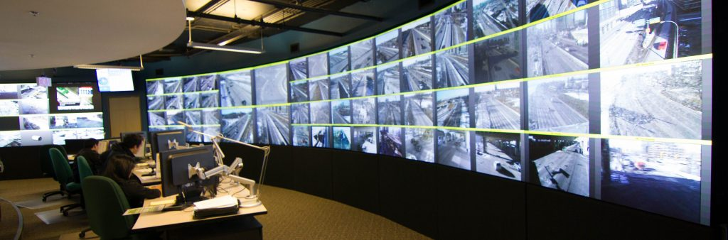 Image of the Traffic Management Centre cameras
