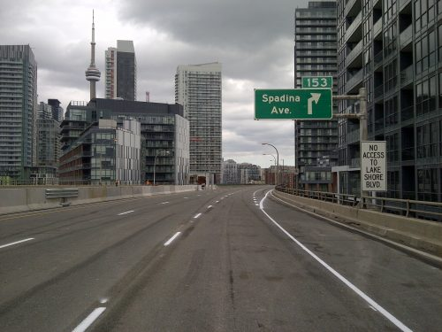 New numbered destination signage has been installed on the Gardiner Expressway