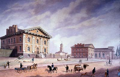 Watercolour painting of a bulding