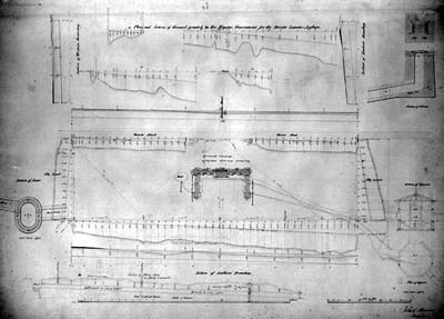 architectural drawing of the asylum grounds