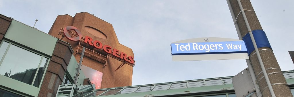 Image of a new street sign at Ted Rogers Way