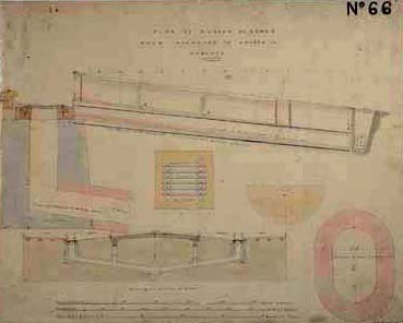 Architectural drawings of a part of a sewer