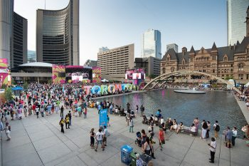 View of the Square during PANAMANIA, which was a feature of the 2015 Pan Am Games