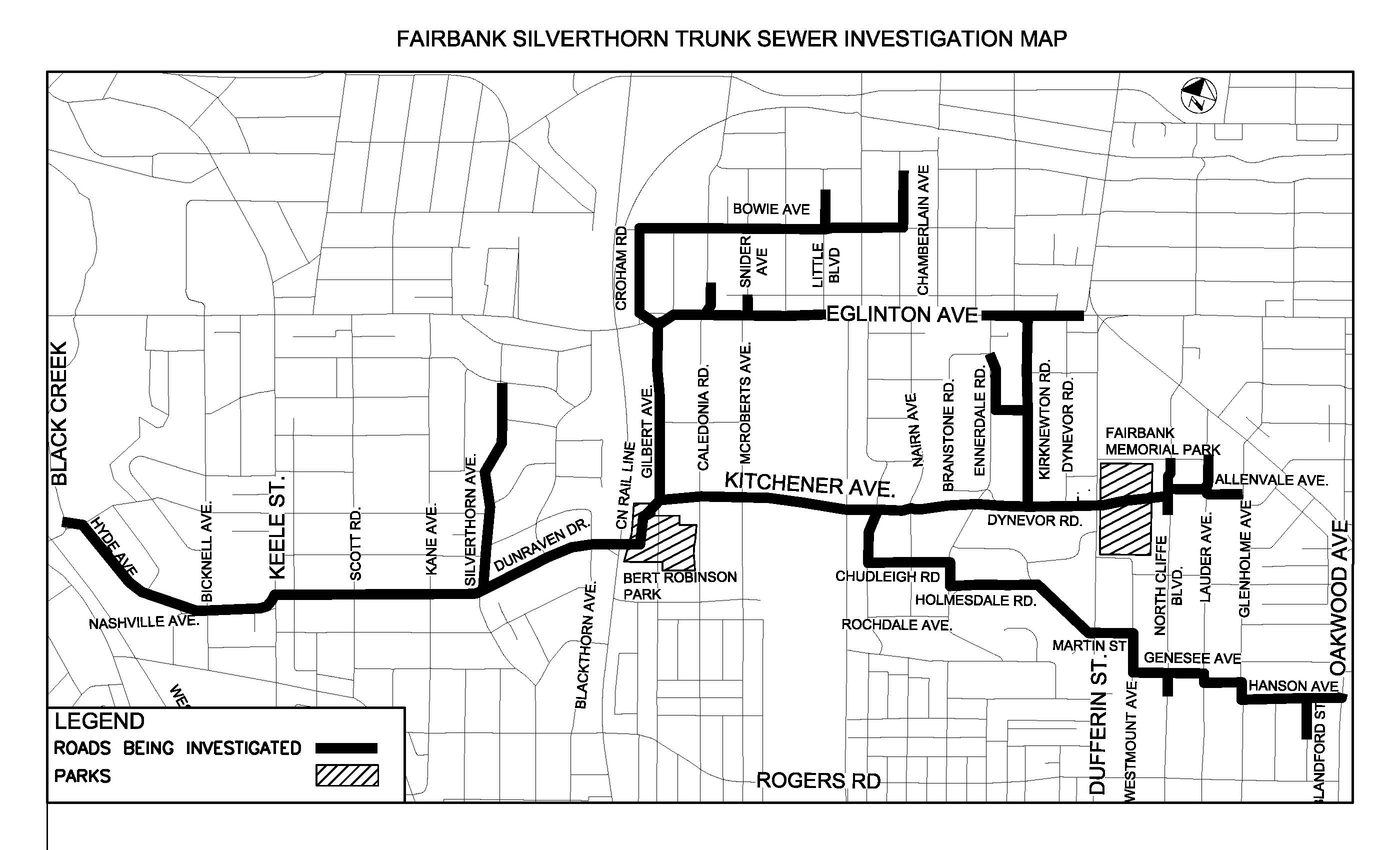 Fairbank trunk sewer map
