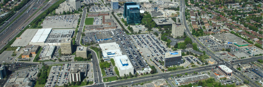 Aerial view of the ConsumersNext study area