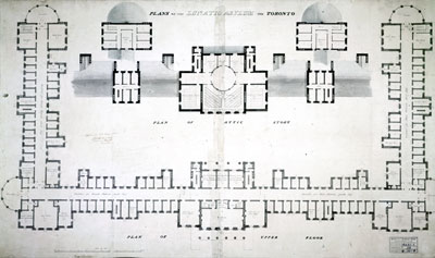 Architect drawing of the ground floor of a bulilding