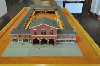 Model of one of the first St. Lawrence Markets, which also held one the first City Halls for Toronto.
