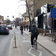Image of cyclists riding in Toronto