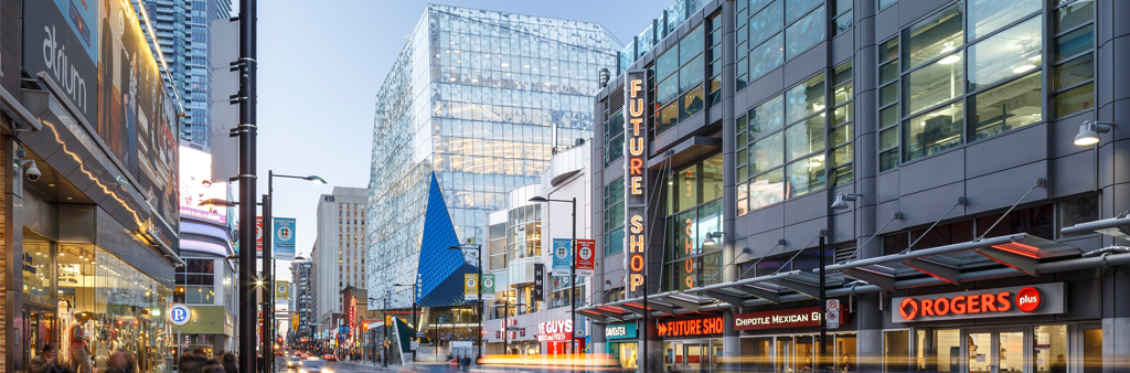 The Ryerson University Student Learning Centre on Yonge Street.