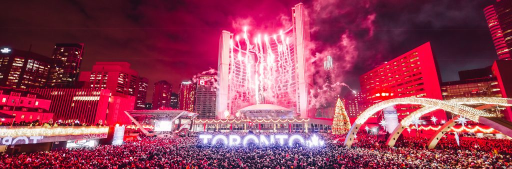 photo of nathan phillips square on new years eve 2017