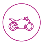Purple Icon of a Motorcycle