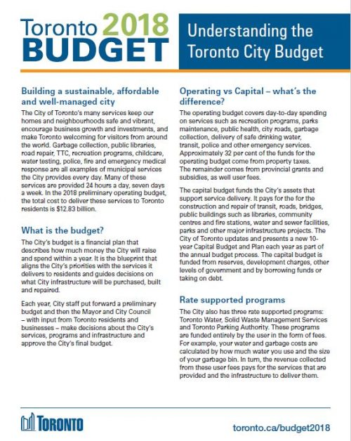 Image of Understanding the City Budget Brochure