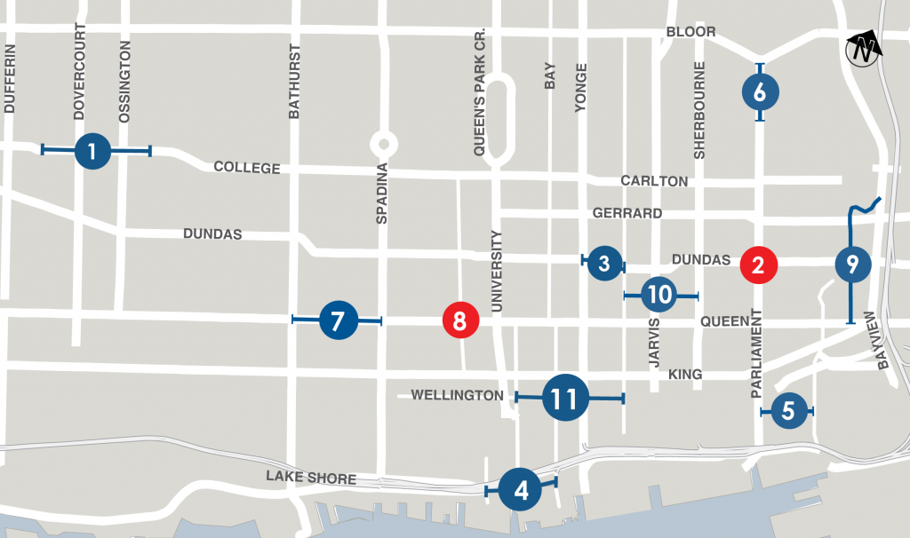 Downtown Construction map