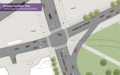 York St. & Harbour St. before ramp removal & road improvements