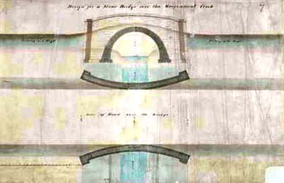 Drawing the bridge over Garrison Creek 1848-1851
