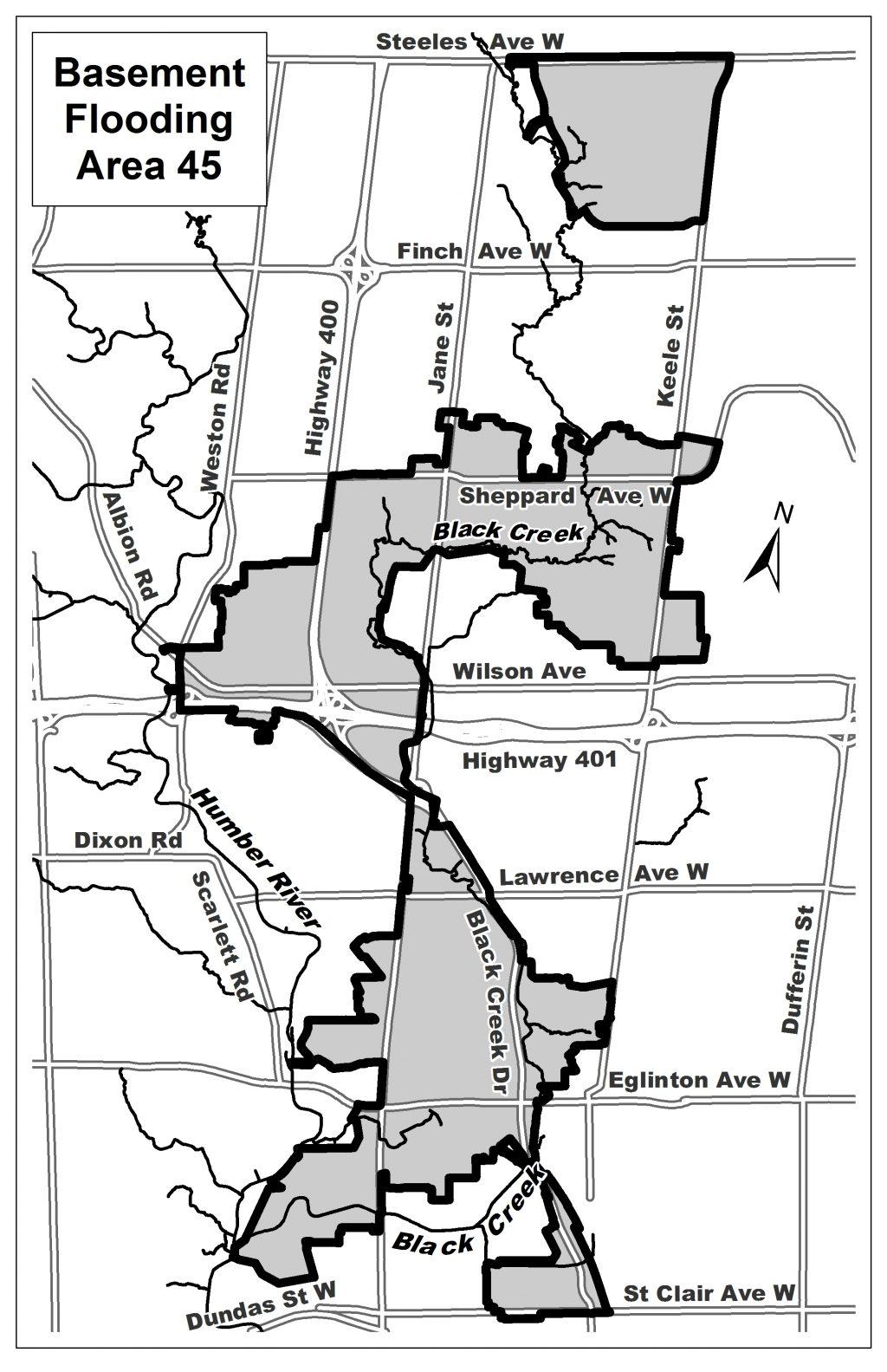 BF Area 45 study area map