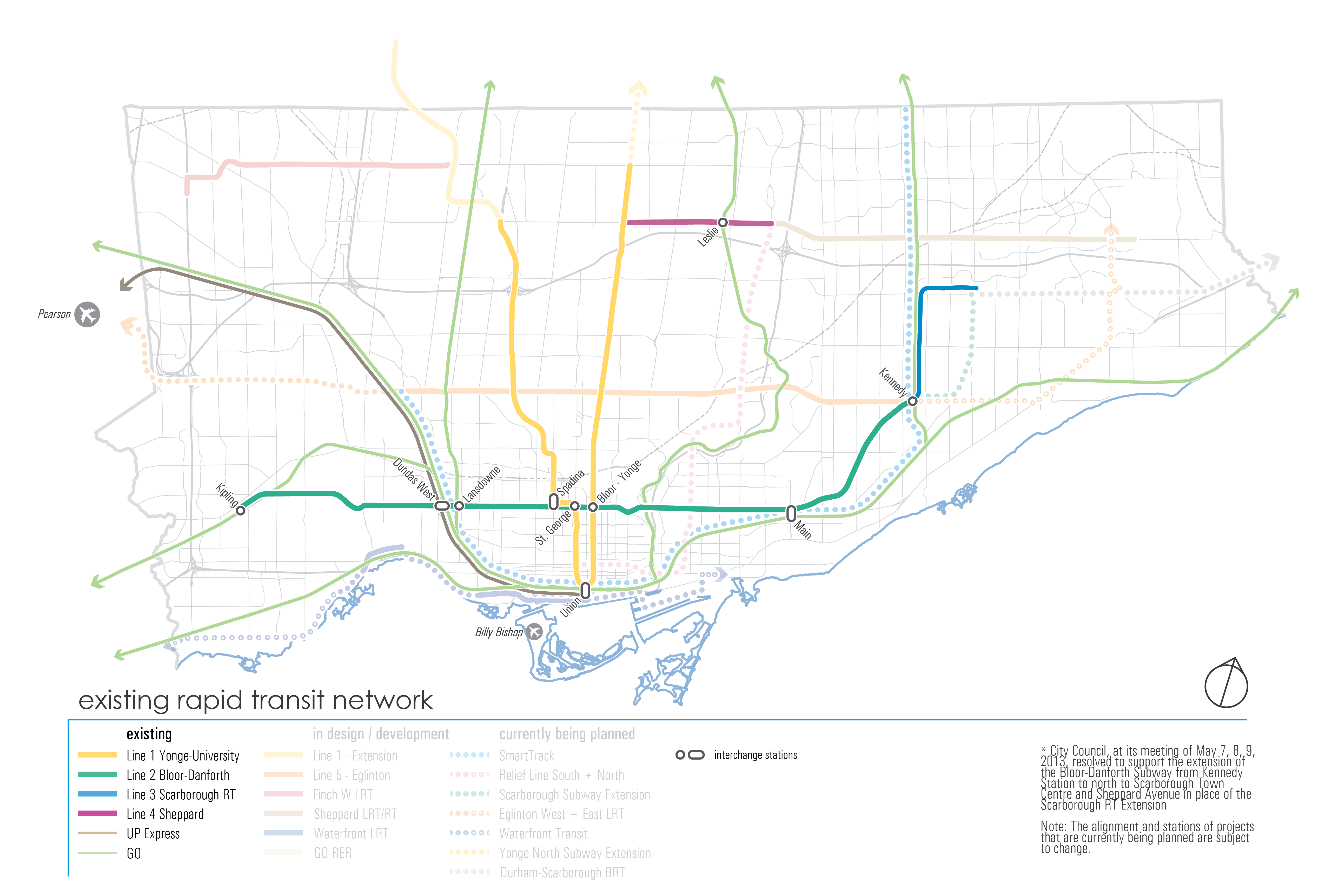 Existing Transit Network map