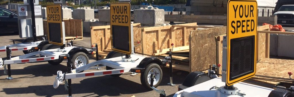 Image of three Watch your speed trailers
