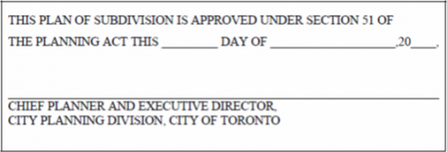 Final Approval Certificate for Draft Plan of Subdivision