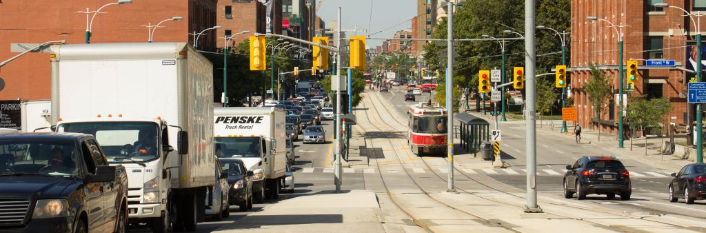 Image of Spadina Avenue an arterial road