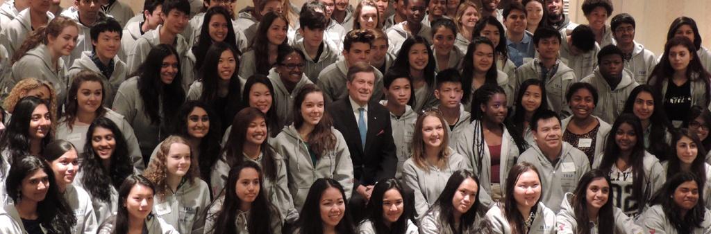 Mayor John Tory withToronto Sport Leadership Program participants.