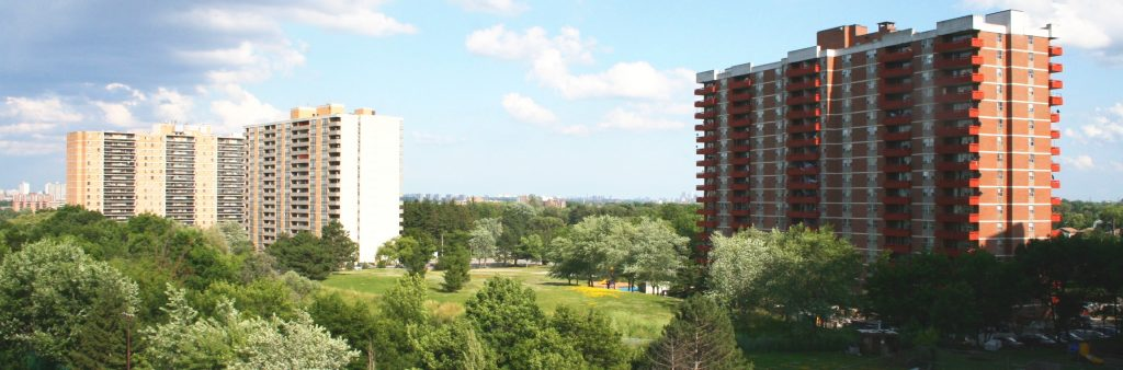 Apartment towers at Humberview Park
