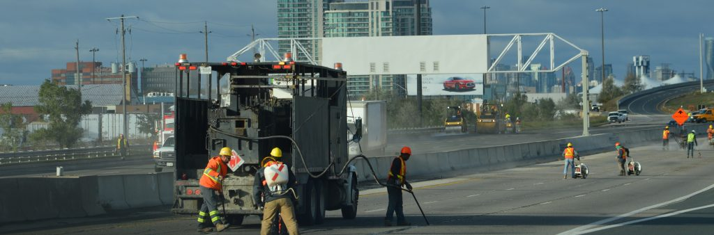 Image of City Crews cleaning up the Gardiner Expressway during the fall 2016 closure