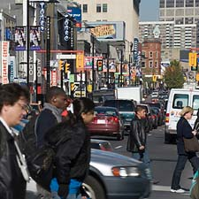 Image of people walking on Yonge Street