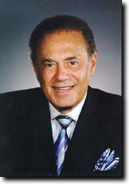 Portrait of former Toronto mayor Mel Lastman