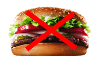 Hamburger, the less healthier choice