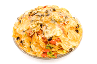 Large plate of nachos