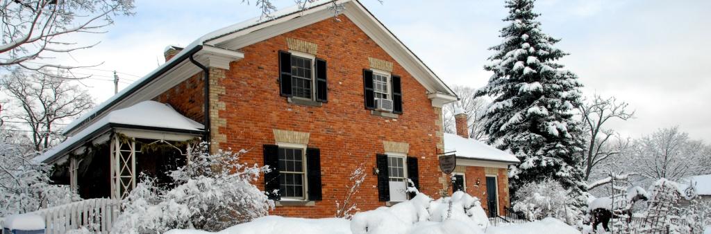 Riverdale farm in winter