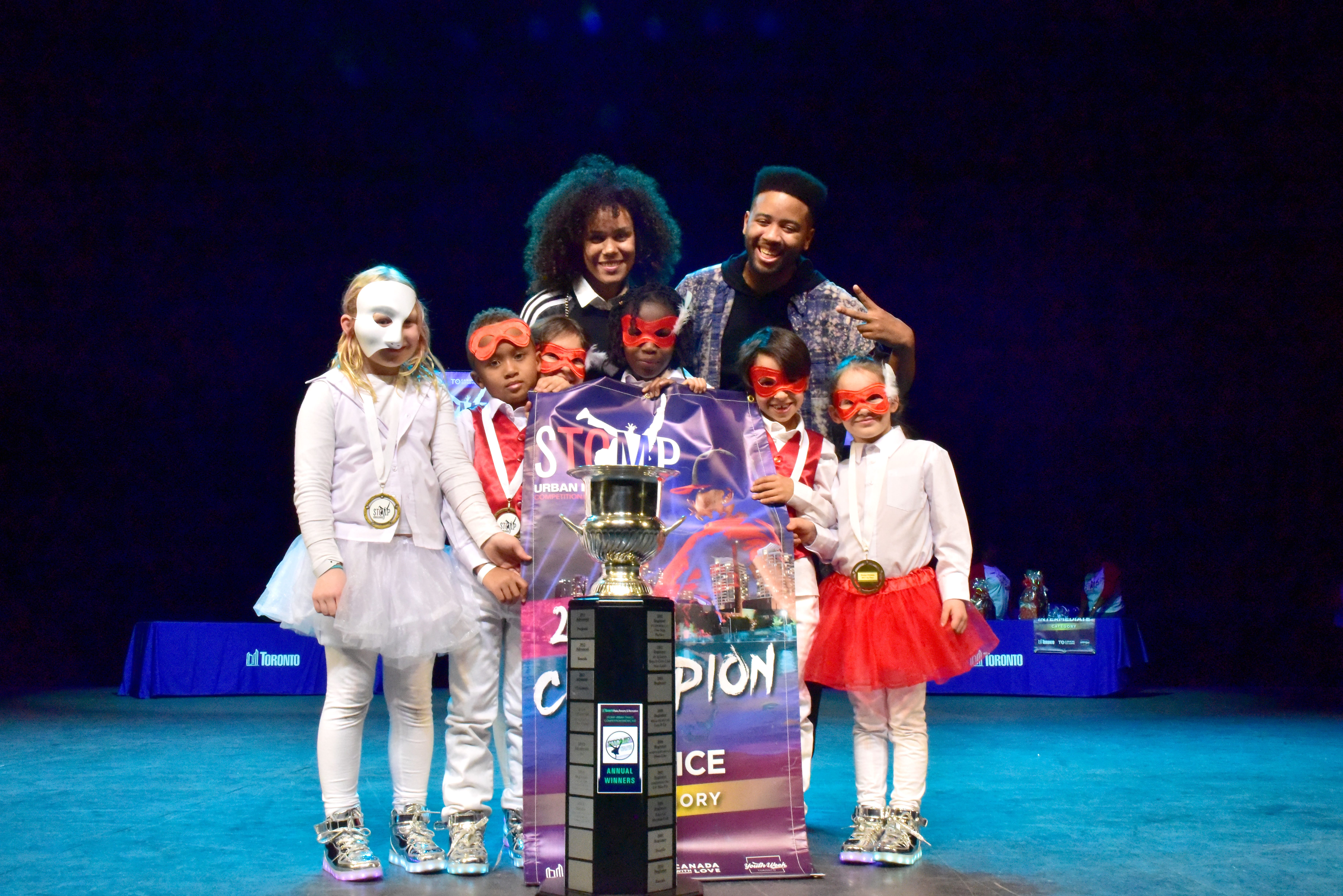 STOMP 2017 Novice dance group winners